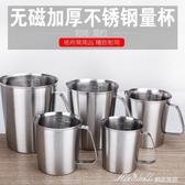 量杯加厚304不銹鋼量杯奶茶咖啡量杯帶刻度2拉花杯實驗杯 蜜拉貝爾