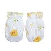 黃色小鴨 寶寶透氣手套(藍/粉/黃)