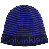 Calvin Klein 藍色條紋針織蓋帽-One Size