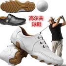 真皮高爾夫球鞋輕便男鞋golf透氣防水防...