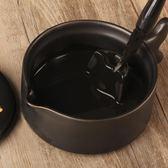 黑釉陶瓷學生小硯臺帶蓋文房四寶毛筆架墨池墨蝶初學者套裝調色盤