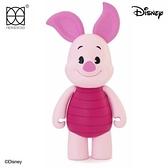 小禮堂 迪士尼 小熊維尼 小豬 HEROCROSS 塑膠公仔 動動娃娃 玩偶 娃娃 (粉 CFS#002) 4897058-78404
