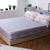 HOLA home 曼芮印花床包枕套組 雙人