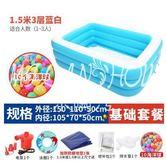 超大號兒童游泳池家用加厚寶寶充氣水池嬰兒游泳桶成人家庭洗澡池