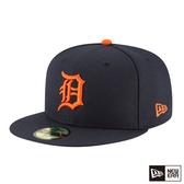 NEW ERA 59FIFTY 5950 MLB 球員帽 老虎 深藍/橘 棒球帽