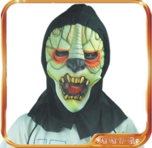 恐怖整人鬼面具 萬聖節夯表演舞會派對服裝道具帽假髮鬼屋用品