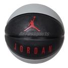 Nike 籃球 Jordan Playground 8P No.7 黑 灰 紅 喬丹 標準7號球 室外 【ACS】 J000186504-107