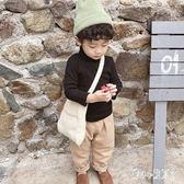 男童T恤 男童加絨打底衫1-3歲2018冬裝新款寶寶高領長袖T恤童裝潮 CP5905【甜心小妮童裝】
