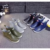 秋雨鞋男士短筒低筒水鞋防滑防水工作鞋雨靴廚房膠鞋水靴男 溫暖享家