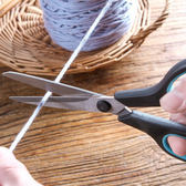 ♚MY COLOR♚多功能不銹鋼剪刀 不對稱 TPR手柄 家用剪刀 剪蔥 修剪布料 植被剪子【P181】