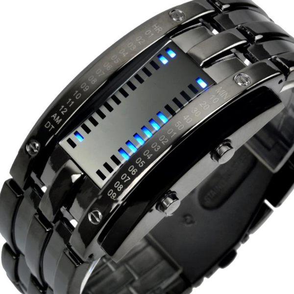 【99購物85折】時刻美防水電子錶 男士創意個性