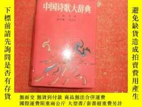 二手書博民逛書店罕見中國詩歌大辭典(大32開精裝)品極佳Y22918 侯健 主編
