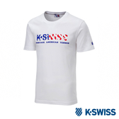 K-SWISS Shield Logo Sweatshorts印花短袖T恤-女-白