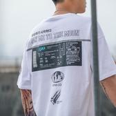 短袖T恤2019新款體恤丅潮流潮牌半袖T恤寬鬆潮短袖男港風聖誕交換禮物