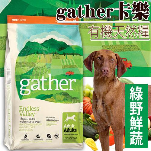 【培菓平價寵物網】gather卡樂》有機天然糧綠野鮮蔬成犬配方-300g0.66磅