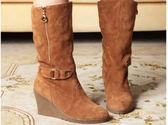 坡跟中筒靴-性感設計精美女靴子3色ws23[巴黎精品]
