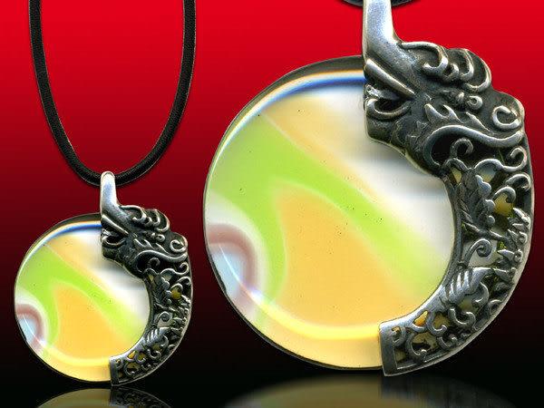 鹿港窯~開運古法水晶琉璃銀飾項鍊~王道 附精美包裝◆免運費送到家