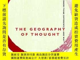 二手書博民逛書店Geography罕見Of ThoughtY256260 Richard E. Nisbet Nicholas