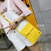手機包 新品迷你小包包帆布包單肩側背包零錢包布藝百搭手機袋 鹿角巷