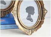 復古仿木雕花橢圓做舊相框法式樹脂橢圓相框畫框 雕花相架 可掛墻〖滿千折百〗