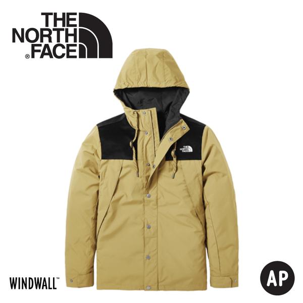 【The North Face 美國 男 防風外套《卡其》】3VTZ/連帽外套/輕量/機能外套/運動夾克/風衣