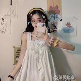夏季新款韓版日繫少女可愛吊帶睡衣女學生家居服短褲兩件套裝 花間公主