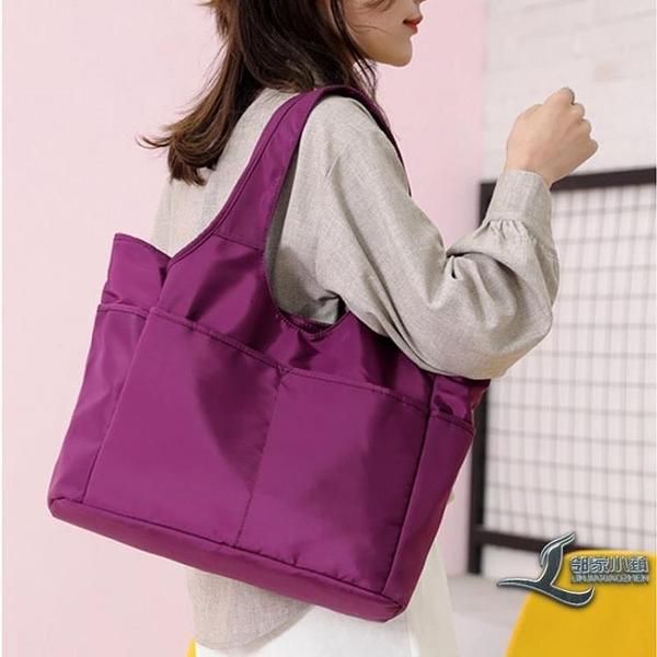 手提包女布包休閒大容量旅行包側背包舞蹈包【邻家小鎮】