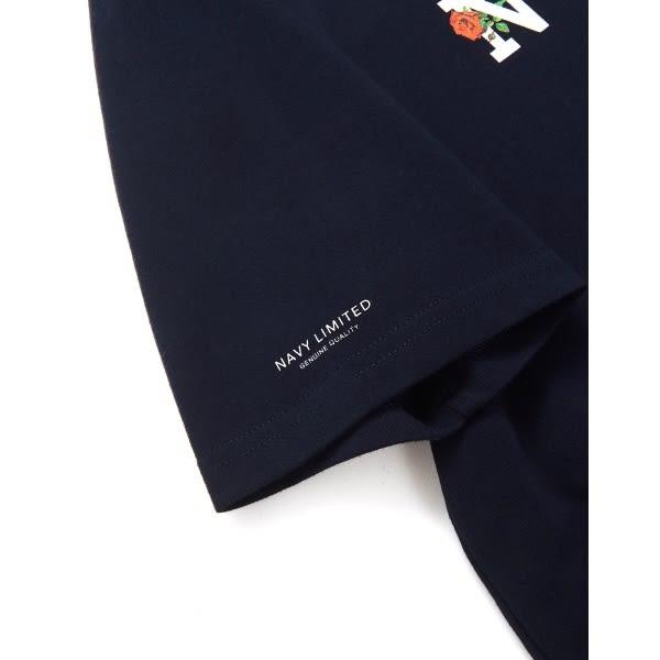CACO-MIT 品牌玫瑰設計短T-情侶款(二色)-男【SNA113】