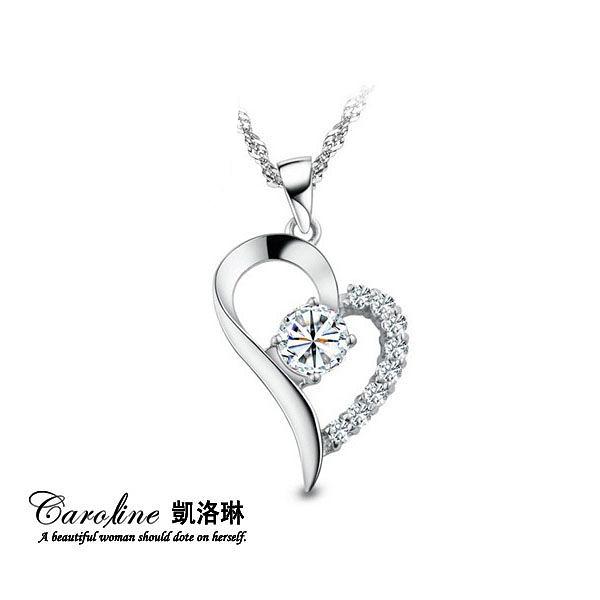 《Caroline》★【愛之戀】甜美魅力、迷人風采 八心八箭水晶時尚項鍊【附白鋼項鍊】66112