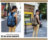 翻蓋高磅耐重-單寧布後背包 / 高磅數水洗帆布 / 筆電背包【C8808】黑葡萄包包