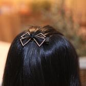 頭飾 韓國發飾菱形網紗蝴蝶結頂夾鑲鑚鴨嘴夾超閃捷克水鑚邊夾小發卡   英賽爾3C數碼店