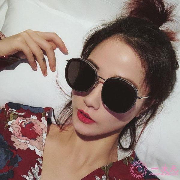 2019大框炫彩墨鏡批發 個性復古透明鏡框簡約太陽鏡女士街拍眼鏡