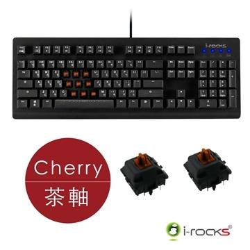 [富廉網] 【i-Rocks】K65MN 無背光 機械式電競鍵盤 Cherry茶軸