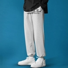休閒褲 運動褲(男)男士休閒長褲子春秋夏季韓版潮流直筒寬鬆束腳褲薄款九分運動衛褲