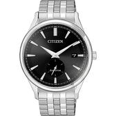 CITIZEN 星辰 光動能小秒針手錶-黑x銀/40mm BV1119-81E