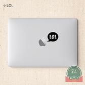 MacBook Air局部貼紙創意膜蘋果筆記本貼紙貼紙【福喜行】