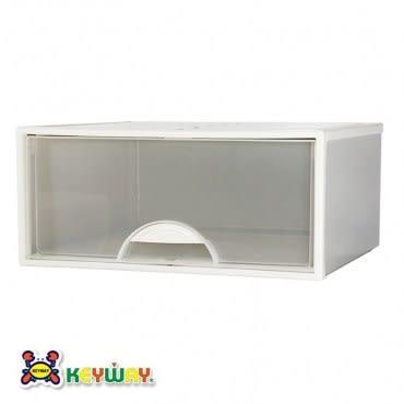 KEYWAY 白色抽屜整理箱 35L K098-1 51x44x23cm