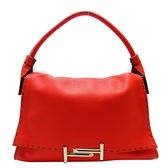 TOD S 托德斯 紅色牛皮縫線造型手提肩背包 WT Shoulder Bag 【二手名牌BRAND OFF】