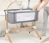 歐式嬰兒床多功能新生兒實木床邊床寶寶床
