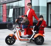 電動三輪車家用老年人代步車小型老人電瓶車接送孩子女士新款迷你 沒,萌萌小寵 免運DF