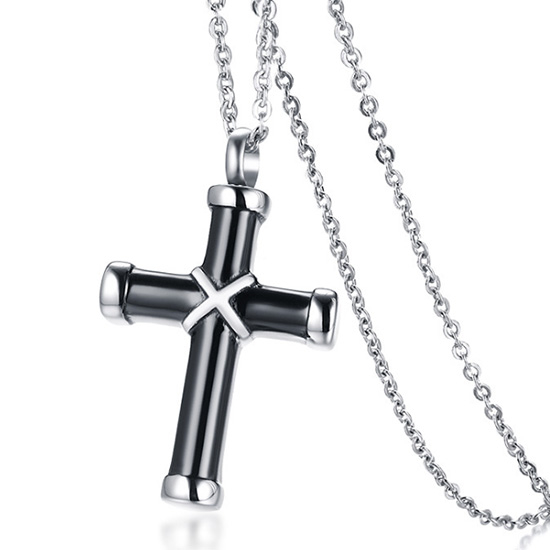 《QBOX 》FASHION 飾品【CPN-969】精緻個性歐美簡約十字架香水盒鈦鋼墬子項鍊/掛飾