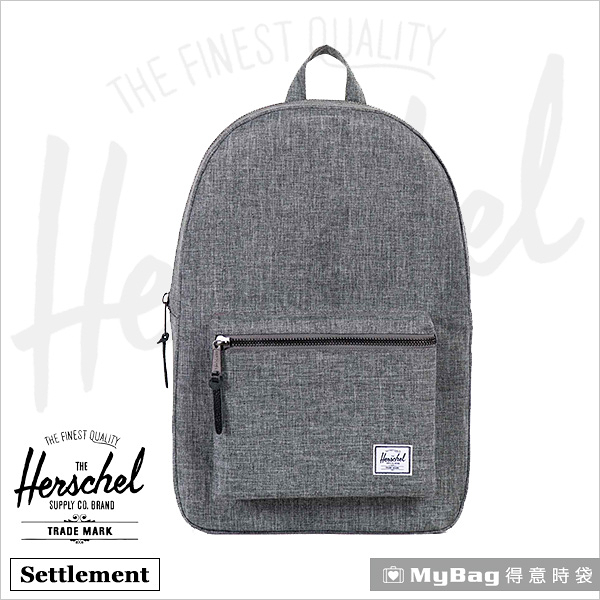 Herschel 後背包 灰色 15吋休閒電腦後背包 Settlement-919 MyBag得意時袋
