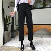 西裝褲黑色褲子女秋季新款韓版寬松顯瘦西裝褲高腰百搭九分休閑褲  萌萌