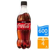 可口可樂ZERO 600ml x4入【愛買】