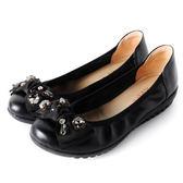 DeSire 蝴蝶結舒適娃娃鞋  -黑