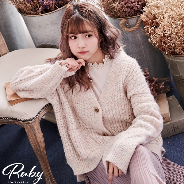 外套 RCha。韓‧糖果色麻花針織外套-Ruby s 露比午茶