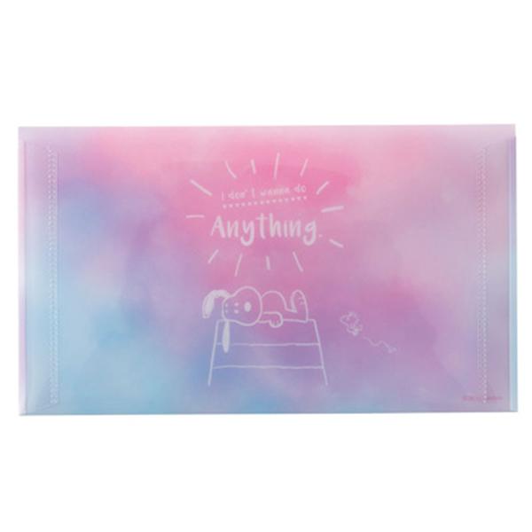 Marimo 日本製PP信封式票券收納夾 SNOOPY 夢境 粉紫 FT65232