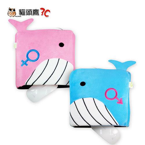 【貓頭鷹3C】USB 鯨魚造型 保暖滑鼠墊-粉紅/粉藍[USB-1902]