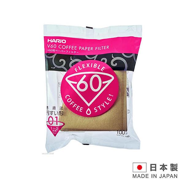 金時代書香咖啡 HARIO 日本製造 無漂白 咖啡濾紙1-2杯用 100入 VCF-01-100M