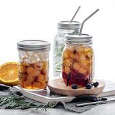 ball梅森公雞杯玻璃杯帶蓋奶茶杯罐子瓶子水果透明飲料果汁杯吸管 聖誕節交換禮物